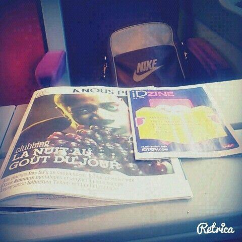 En voyage.