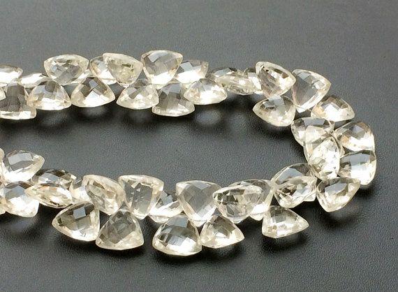Crystal Quartz Beads Crystal Quartz Fancy by gemsforjewels on Etsy