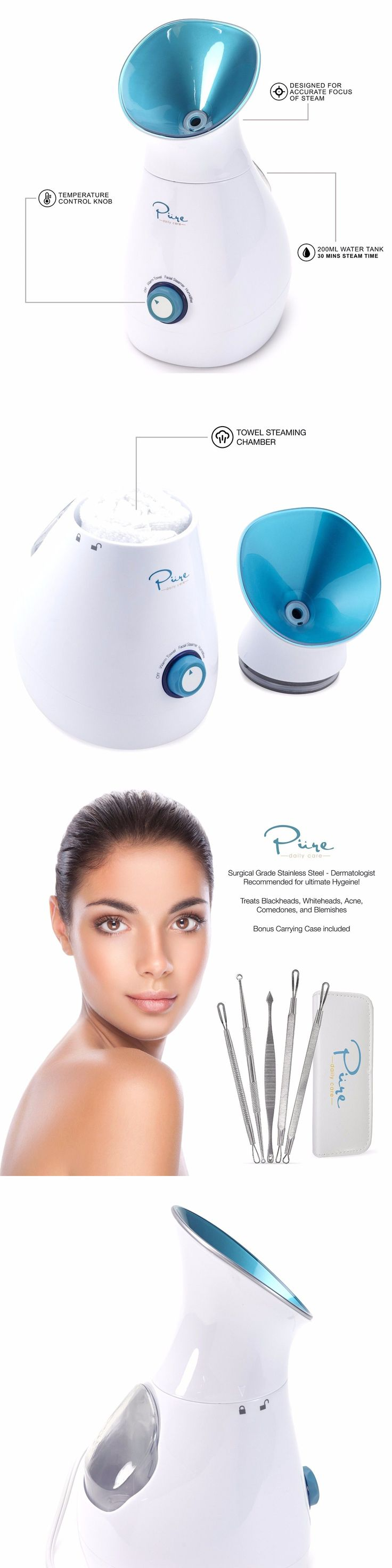Professional Facial Machines: Facial Skin Steamer Nano Ozone Machine Portable Spa With Temperature Contro Best -> BUY IT NOW ONLY: $74.95 on eBay!