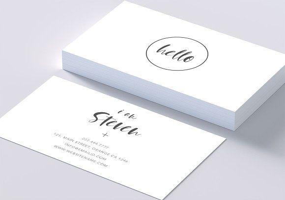Minimal Beautiful Smart Card Business Card Template Design