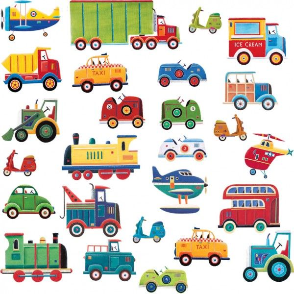 Transport Wall Stickers, Boys Wall Stickers With Cars, Trains, Planes And  Vans | Part 33