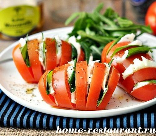 фаршированые помидоры Капрезе