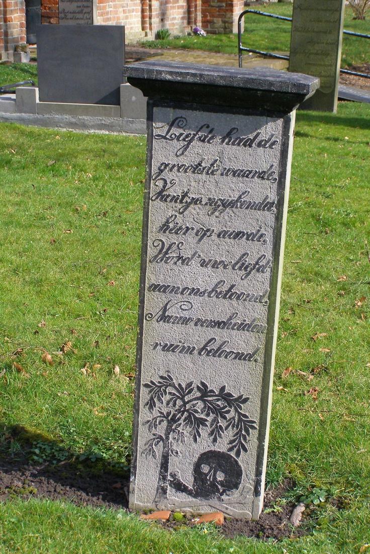 Tjaaktje Jans van Zanten in Garmerwolde. Liefde had de grootste waarde, Van 't geen gij kendet hier op aarde, Word' uwe liefd aan ons betoond. Nauw verscheiden ruim beloond.