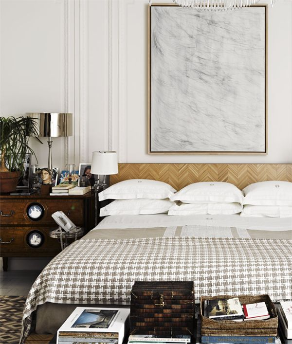 chic bedroom with masculine touches // douglas friedman
