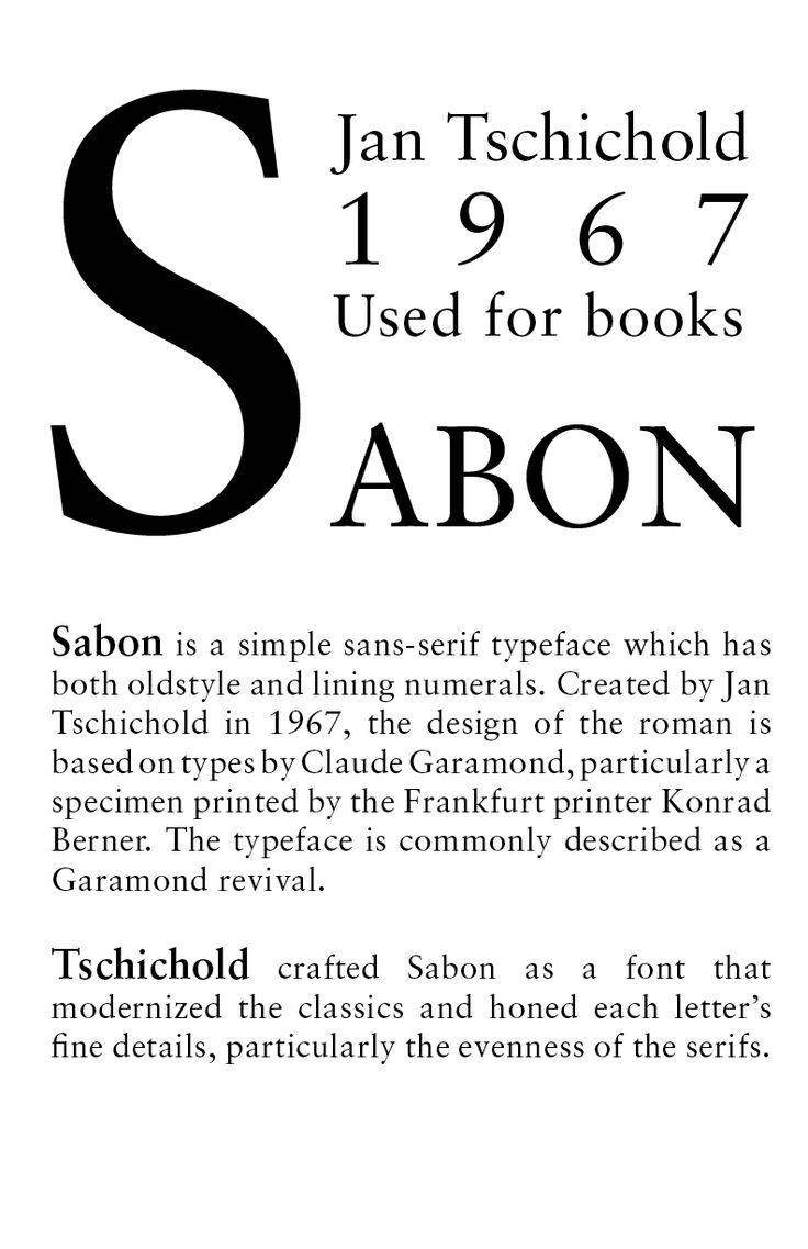sabon typeface - Google Search