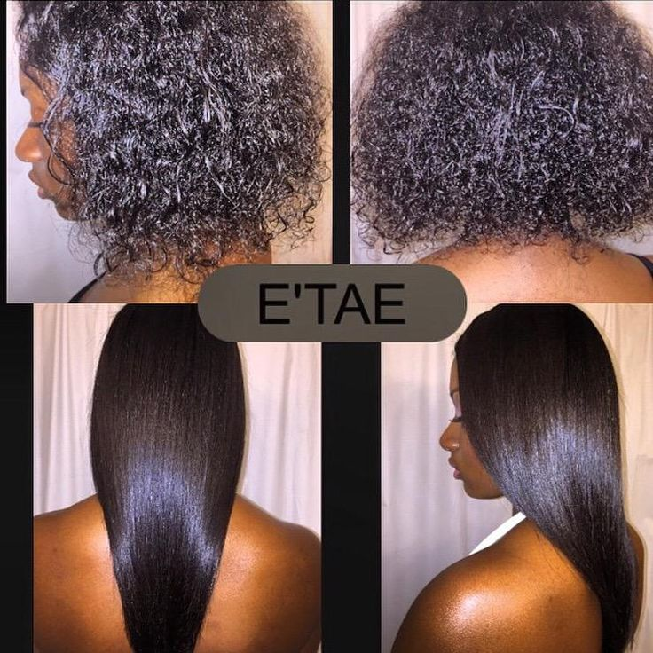 E Tae Healthy Hair On Blow Dry Flat Iron And Black Hair