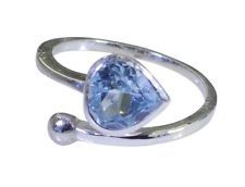 magnificent Blue Topaz 925 Sterling Silver Blue Ring wholesales L-1in US 5678