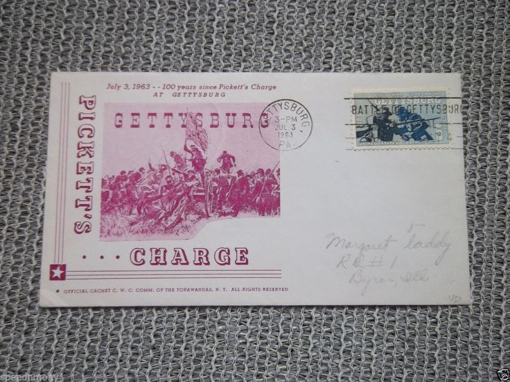 Pickett's Charge First Day Cover Gettysburg July 3, 1963