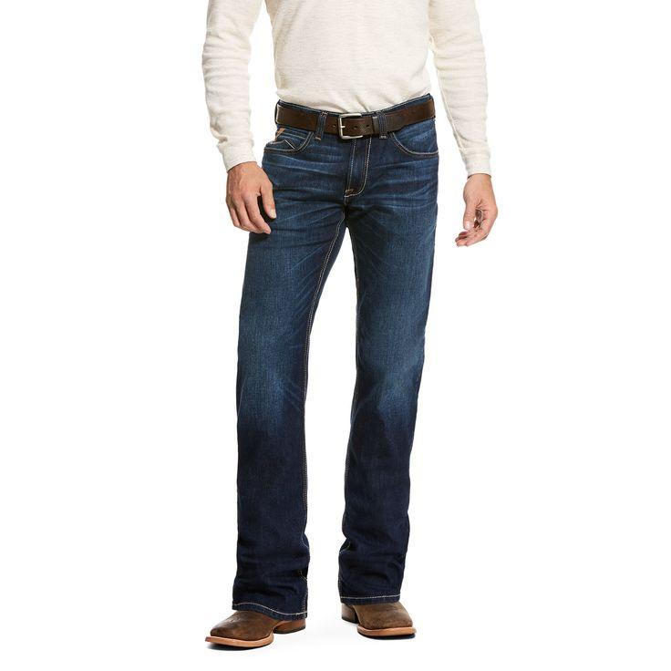 Men's M5 Slim TekStretch Wilton Stackable Straight Leg Jeans in Cash, 29 X 34 by Ariat