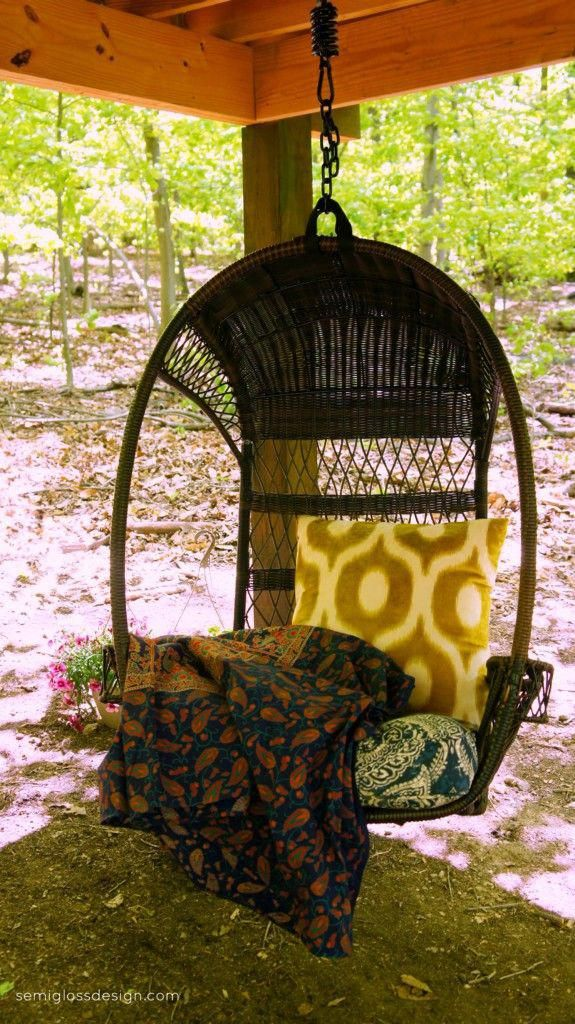 hanging chair restoration hardware 6 dining table under treehouse provides a fun place to read kidshangingchair