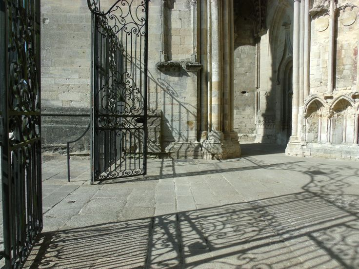 Entrance to the cathedral at Sées, Normandy, the town that stood up to the wicked sons of Soreng - A true story of medieval mayhem in the Orne.  http://www.normandythenandnow.com/sons-of-soreng/