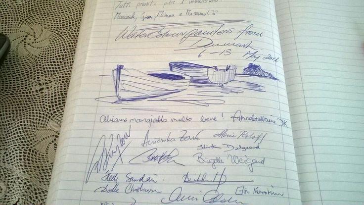 Un gruppetto di artisti danesi ci lascia questo bellissimo ricordo... #ischia #recensioni