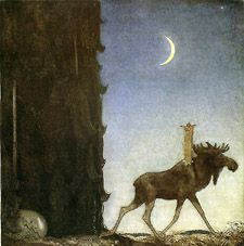 """Leap the elk"" John Bauer (1882-1918)"