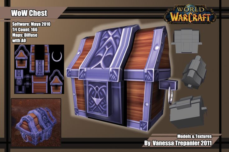 A treasure chest from World of Warcraft