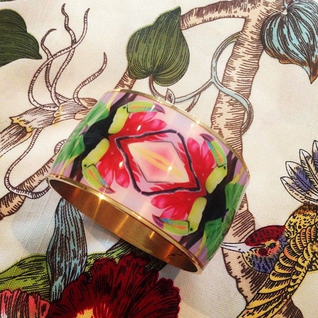 Nature re-coloured. Dancing Toucan in it it's natural habitat. @FLOR AMAZONA #floramazona #jewellery #jewelry #fashion #nature #colour ...