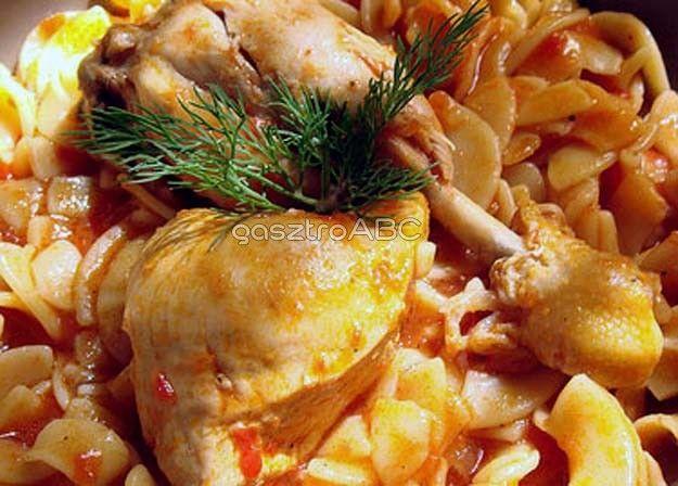 Görög csirke vele főtt tésztával | Receptek | gasztroABC