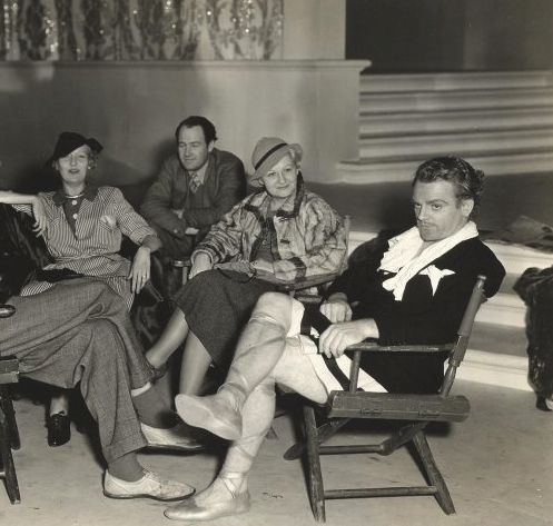 James Cagney on the set of A Midsummer Night's Dream