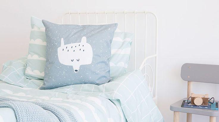 Lookbook Juego funda nórdica Mint Waves. Little kids bedroom. Ropa de cama infantil #bedroomforkids #kidsroom #duvetcover #duvetcoverforkids #fundasnordicasparaniños #habitacionesinfantiles