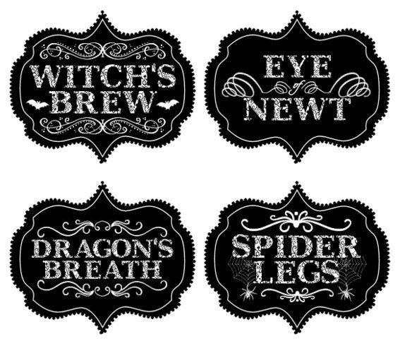 Printable #Halloween Food Labels! #free                                                                                                                                                                                 More