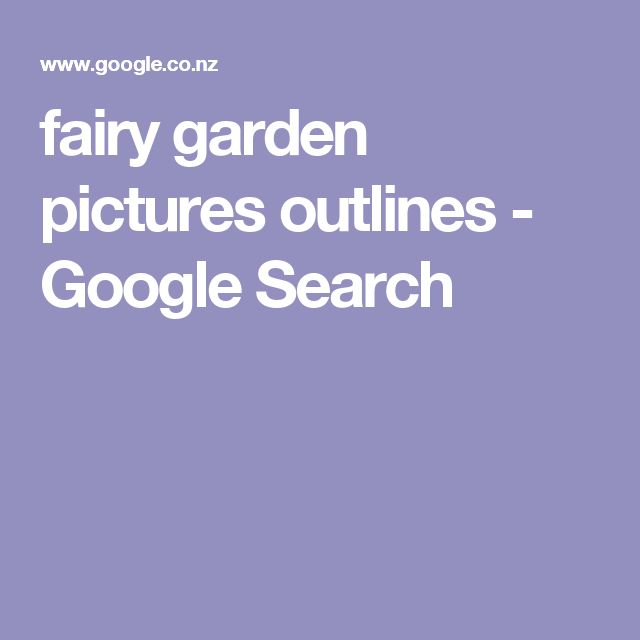 fairy garden pictures outlines - Google Search