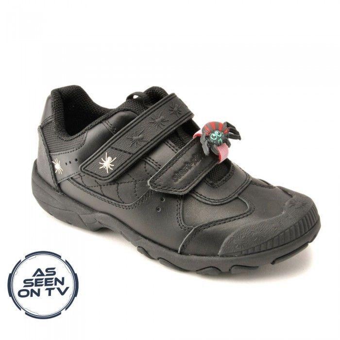 *NEW* Startrite TARANTULA Size 9 - 1.5 Black Boys School Shoes Velcro Leather