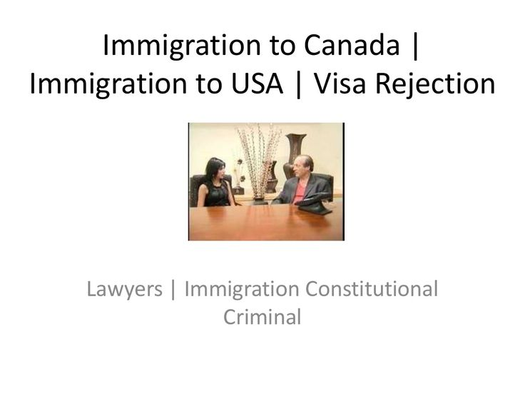 immigration-to-canada & usa-visa-rejection and refusa by via Slideshare http://www.singhandassociates.org/2012/03/22/canada-immigration-pr-guide/