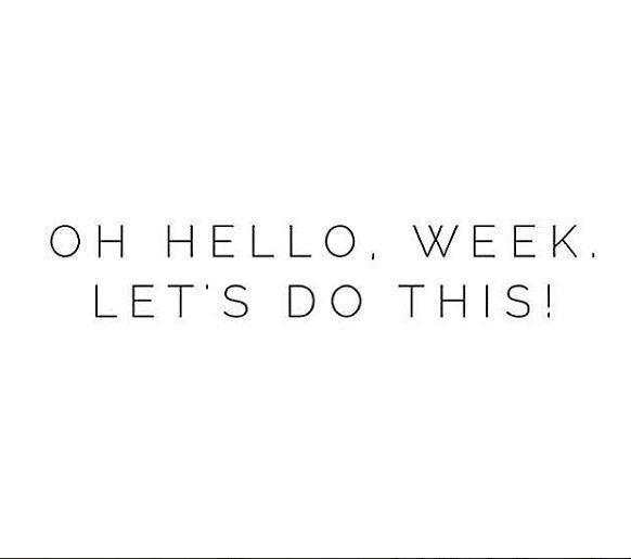 We have a feeling it's going to be a good week. Have a great day everyone! . via @fallon_co