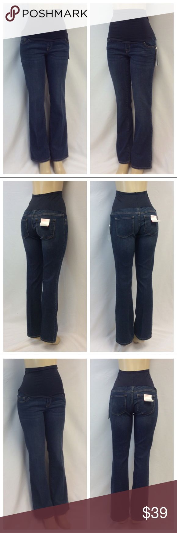 """OLD NAVY Maternity Jeans NWT OLD NAVY Maternity Jeans NWT, Size 6, 86% cotton, 13% polyester, 1% spandex, machine washable. Approximate measurements are 15"""" waist laying flat, 46"""" waist to hem, 8"""" waist to crotch, 32"""" inseam. 0670 Old Navy Jeans"""