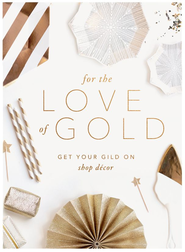 BHLDN | Anthropologie Weddings | Gold Decor | Email Design