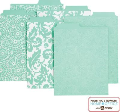 Staples®. has the Martha Stewart Home Office™ with Avery™ Vertical File Folders Assorted Blue Patterns, 2 Tabs you need for home office or business. FREE Shipping on all orders over $45, plus Rewards Members get 5 percent back on everything!