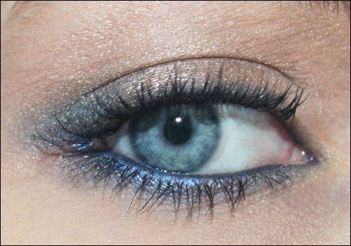 Un maquillage bleu pour mes yeux bleus | Le Blog 100% Girly de Camille