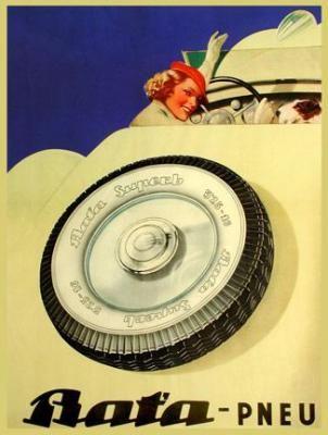 Vintage Bata Tires Ad #batashoes #120yearsadvertising