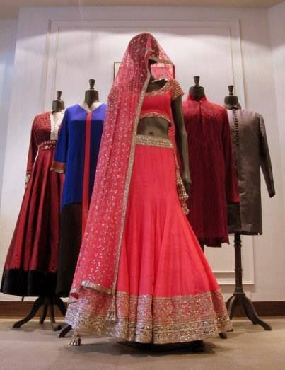 Not crazy about the outfit but the color is beautiful. Manish Malhotra 2014
