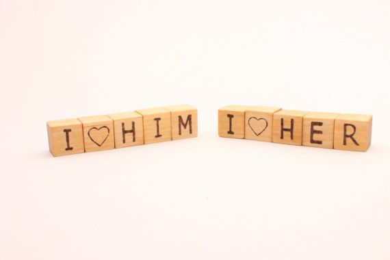 Personalized small wooden blocks  069 inch  Rustic by WoofWoofWood