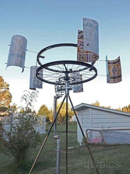 DIY Wind-Powered Water Pump Made from Bike Parts : TreeHugger