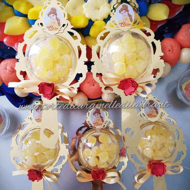 Mirror Lollipop Beauty and the beast Party Ideas