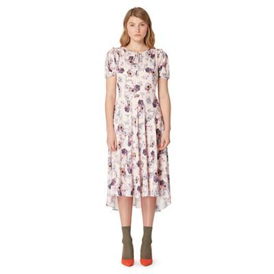Studio by Preen Pink floral print tea dress | Debenhams
