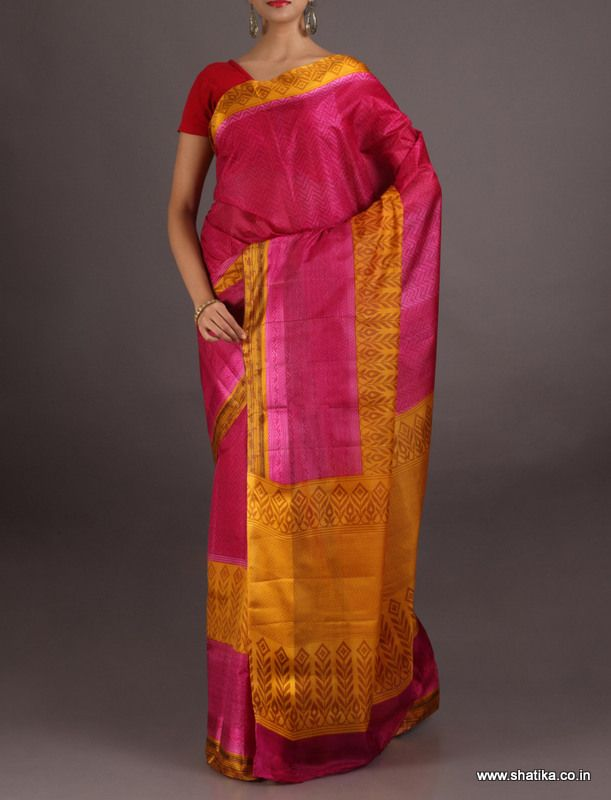 Malati Striking Beauty Plain And #PrintedSilkSaree