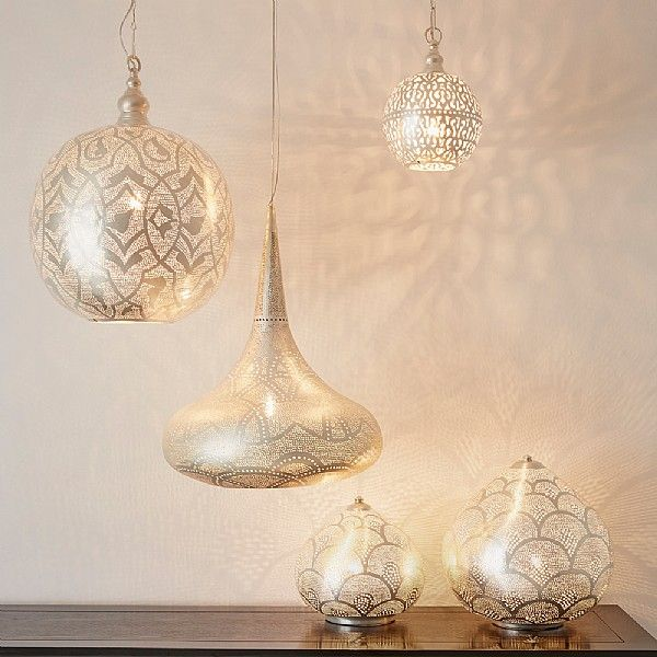 Idris brass ceiling lamp