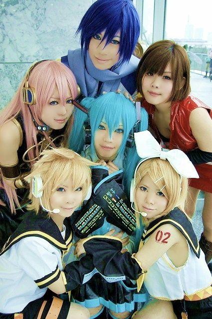 Kaito Shion, Luka Megurine, Meiko, Hatsune Mikum Kagamine Len & Rin