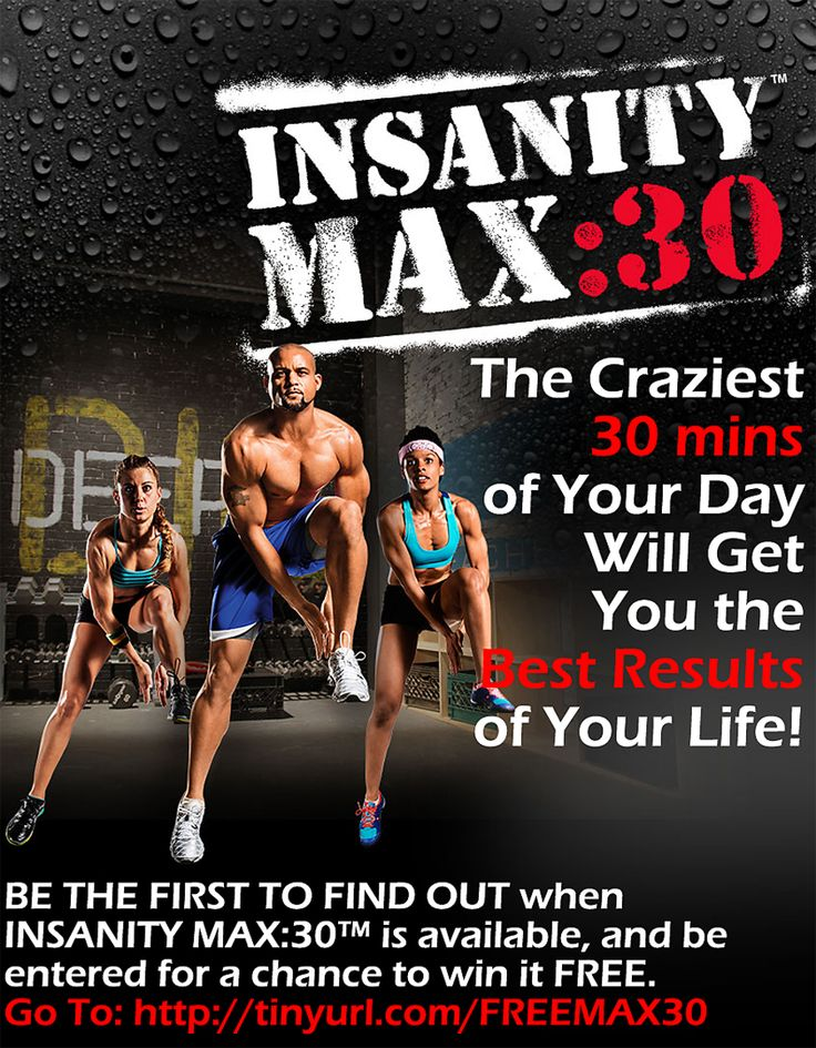 Love Insanity or want to do Insanity but it's just too long? Insanity Max 30 will get you Insanity results without the long workout. Find out when Max 30 will be released before it goes public & is SOLD OUT! Plus you could when your own FREE copy here: http://www.onesteptoweightloss.com/insanity-max-30-review #Insanity2Max30