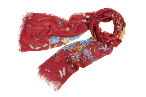 Stunning red Lettuce honesuckle scarf  $35 at sweetjojos.com Free post!
