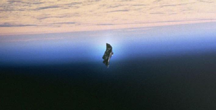 В объектив камеры МКС попал легендарный «Черный рыцарь», защищающий Землю от инопланетного вторжения
