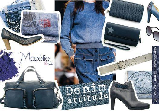 Un look Denin attitude avec les chaussures et accessoires Mazélie & Co