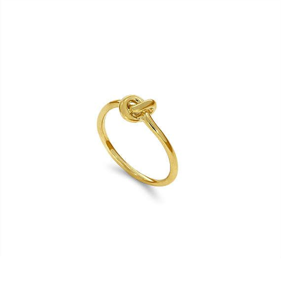 14k solid gold knot ring. love knot ring.