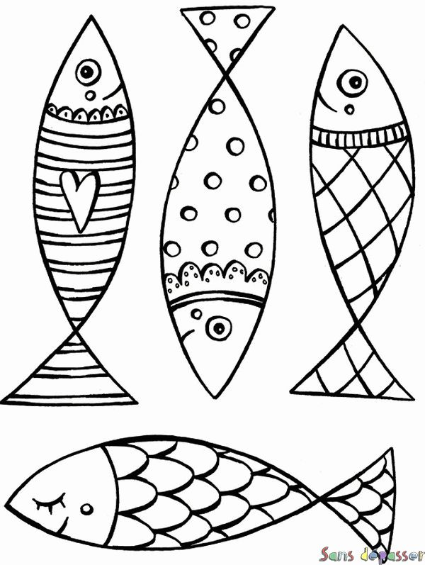 Coloriage Poissons d'avril !