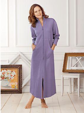 Fleece zip up robes