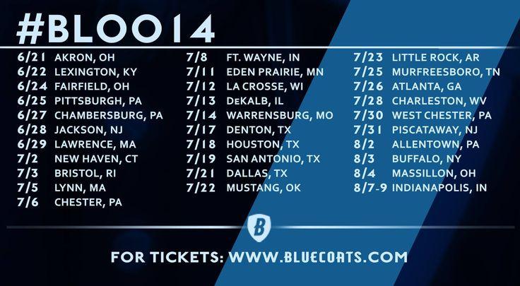 Bluecoats 2014 Show Dates