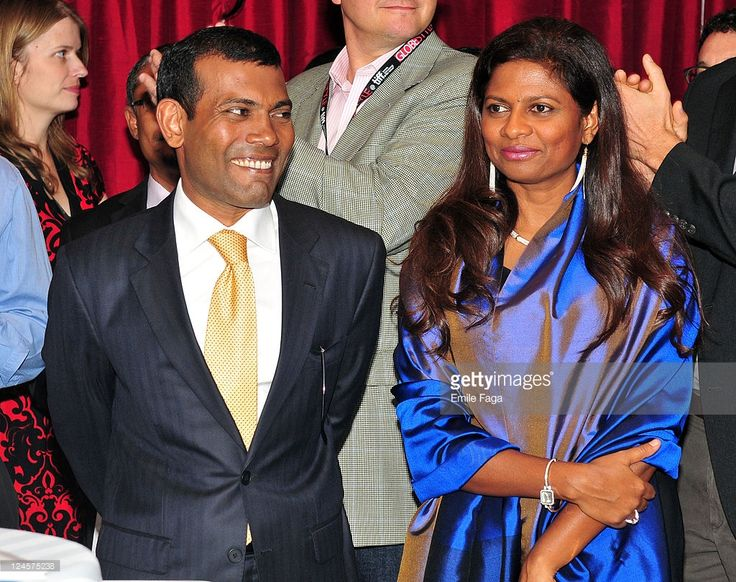 President of the Maldives Mohamed Nasheed and his wife Laila Ali... News Photo | Getty Images