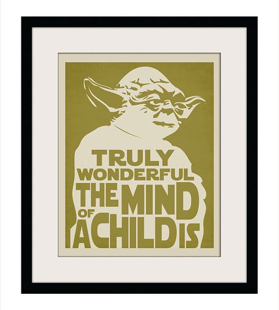 Yoda Quote Wall Art Poster Print Typography Digital by Ceesanna, $5.00